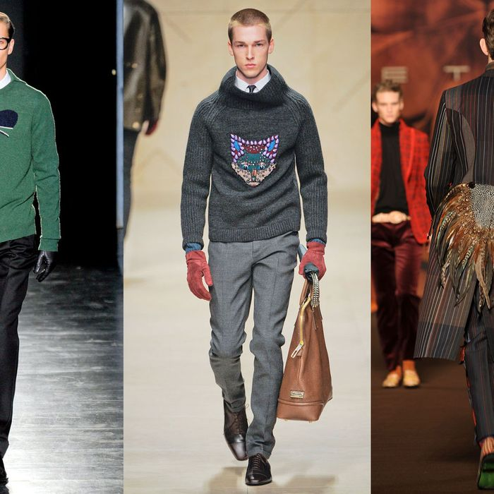 New men's looks from Jil Sander, Burberry, and Etro.