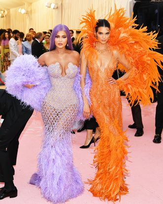 Kendall and Kylie Jenner at Met Gala 2019