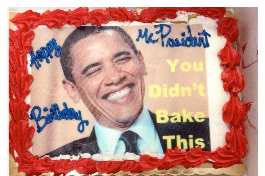 Awesome The Rnc Put A Joke On President Obamas Birthday Cake Funny Birthday Cards Online Inifodamsfinfo