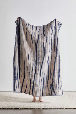 UO Home Selene Tie-Dye Kantha Stitch Throw Blanket