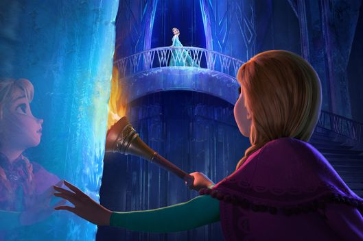 """FROZEN"" (Top to Bottom) ELSA and ANNA. ?2013 Disney. All Rights Reserved."