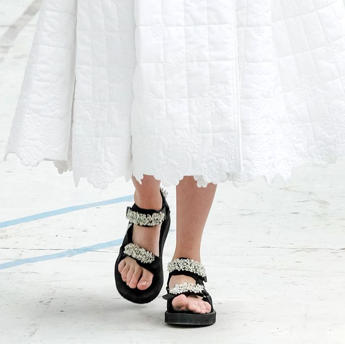 f72caa65d219 Cecilie Bahnsen Shows Teva-Style Suicoke Sandals on Runway