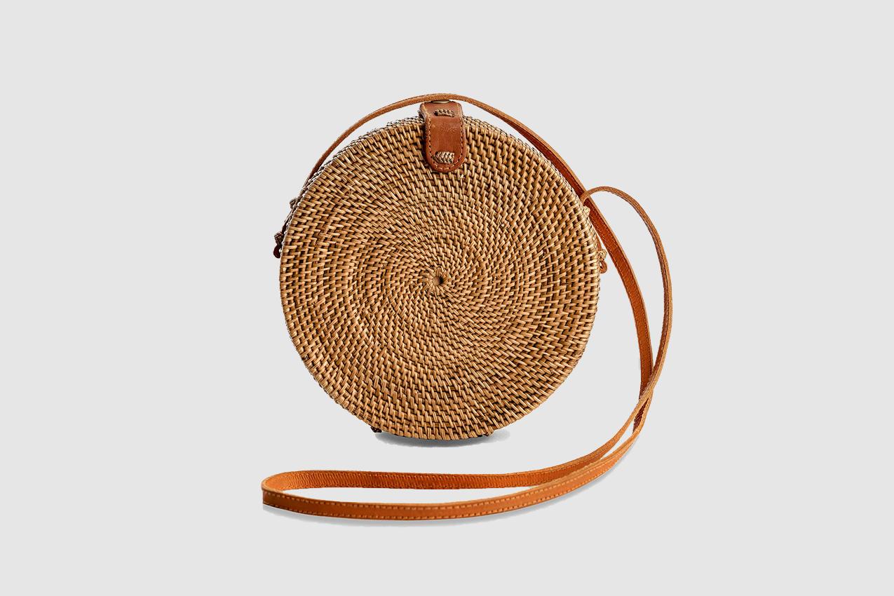 Handmade Wicker Circle Boho Bag
