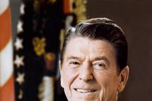 Official portrait of US President Ronald Reagan, on March 01, 1981.