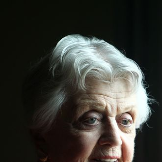 Actor Angela Lansbury poses for a photo during a