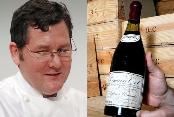 The chef allegedly personally vouched for the bottle's provenance.