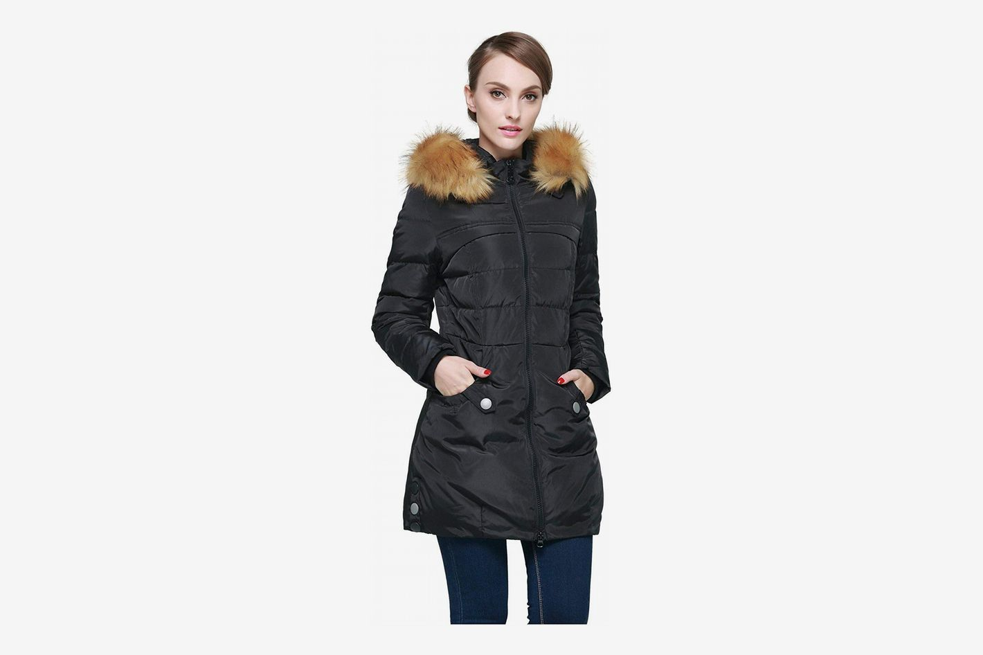 30d743acab95 Orolay Women s Down Jacket with Faux Fur Trim Hood