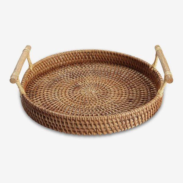 Yiwen Handmade Rattan Round Woven Basket