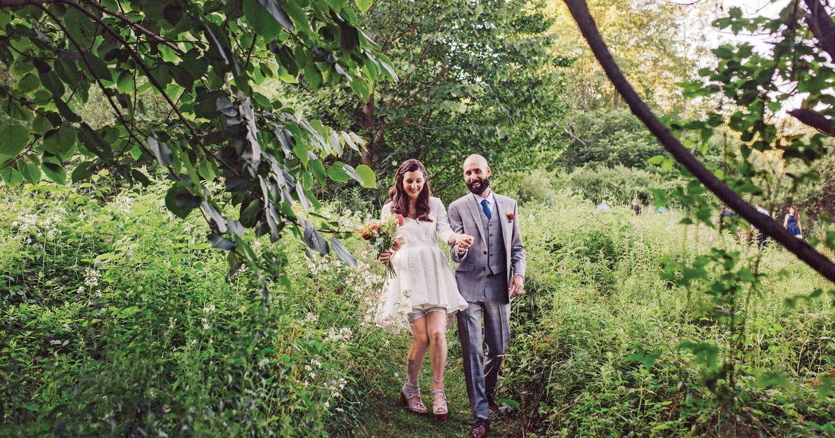Real Wedding Album: A Woodland Adventure at a Flower Farm