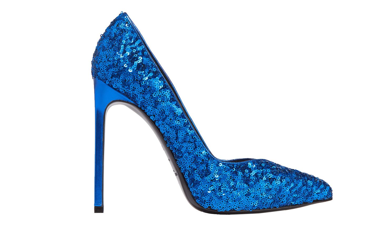Saint Laurent Sequin Leather Pumps