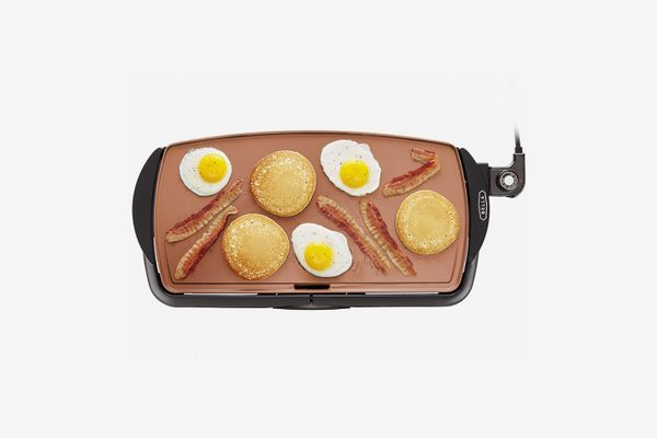 BELLA 14606 Copper Titanium Coated Non-Stick Electric Griddle