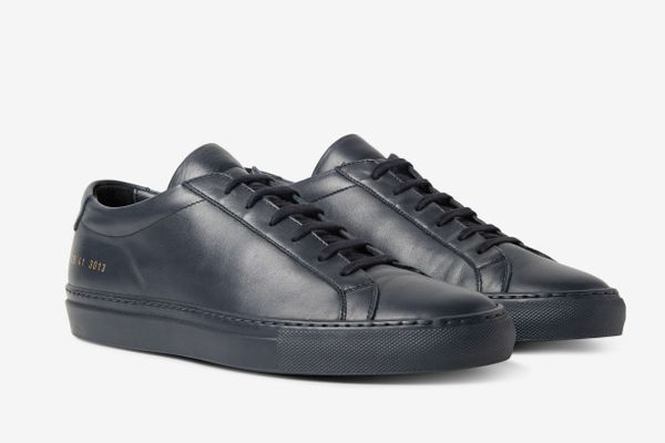 Common Projects Achilles Grained Leather Sneakers