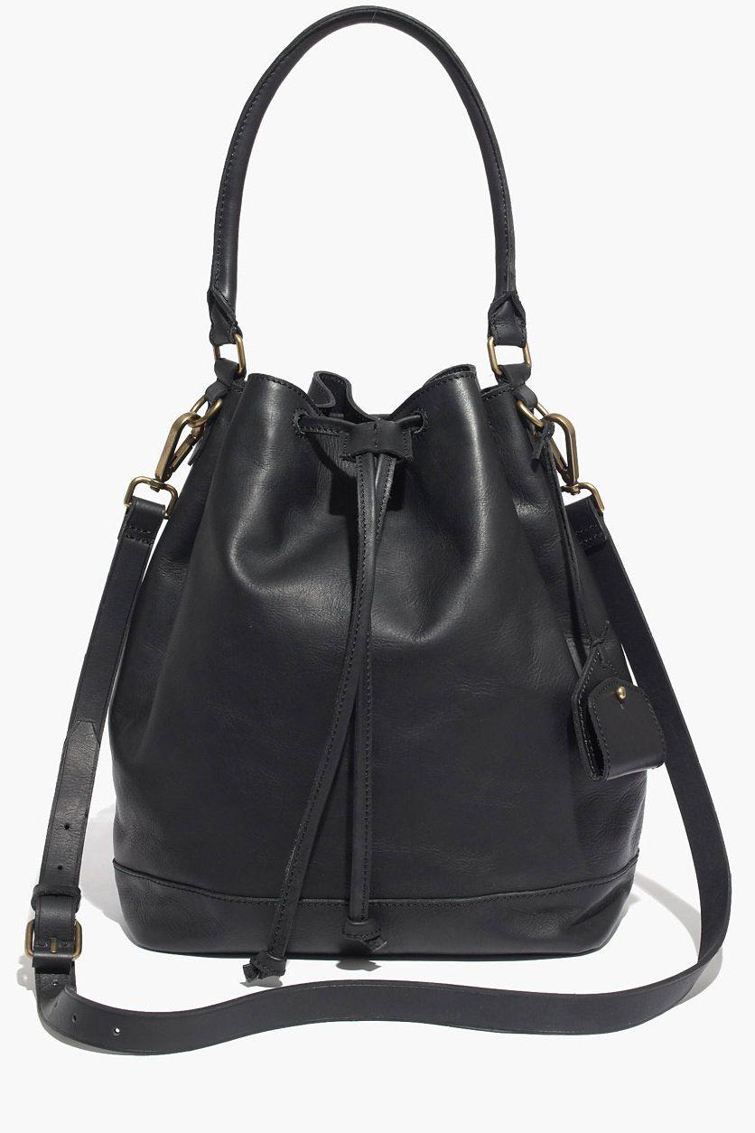 Madewell Lafayette Leather Bucket Bag