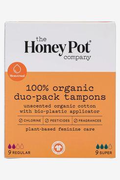 Tampons applicateurs bio-plasitiques bio Honey Pot Duo Pack