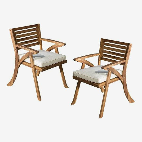 Christopher Knight Home Hermosa Outdoor Acacia Wood Armchairs (Set of 2)