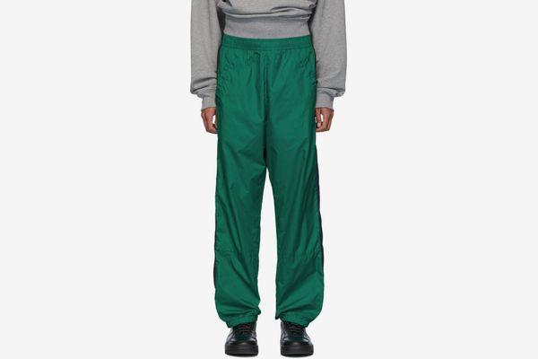 Acne Studios Green Phoenix Face Track Pants