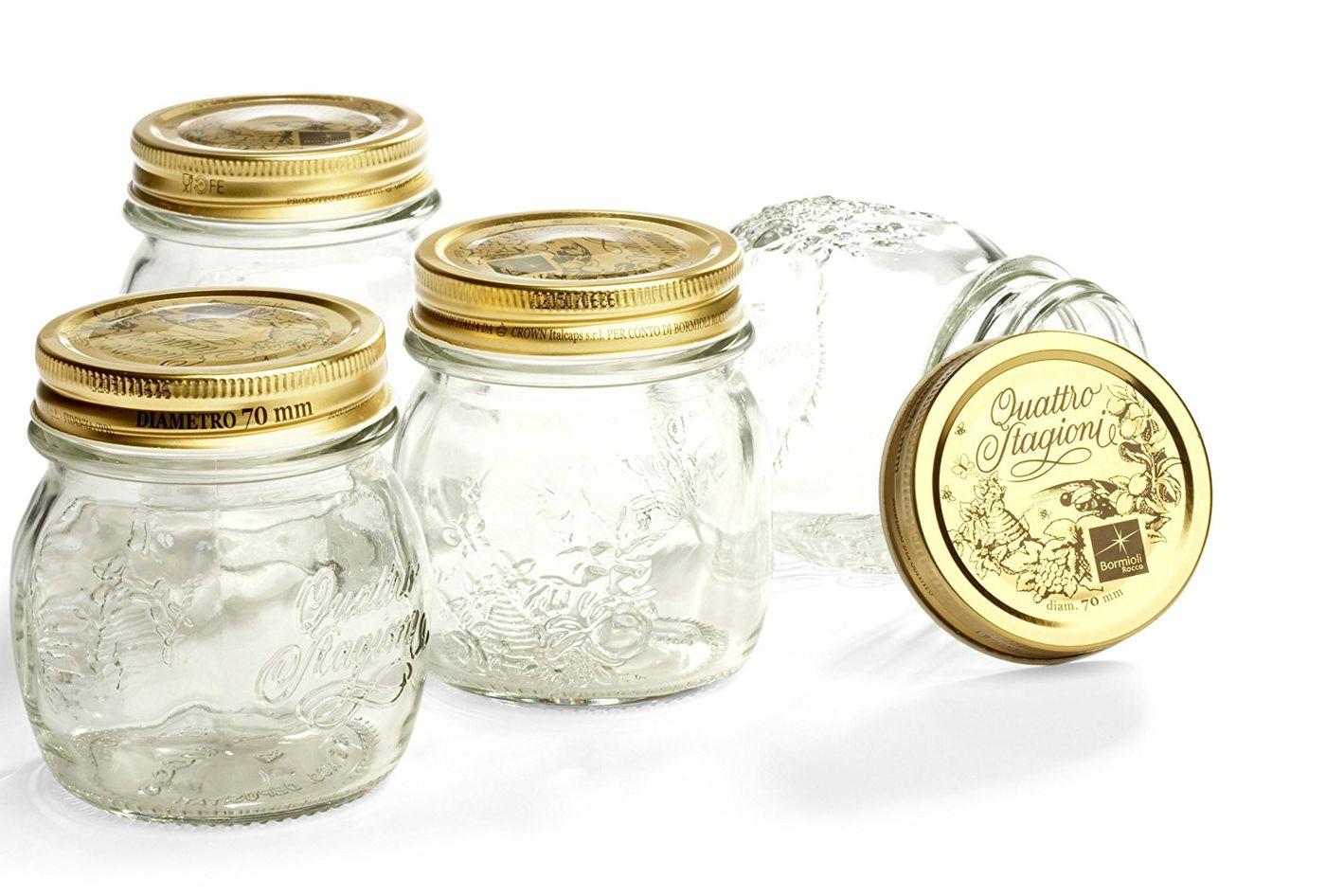 Bormioli Rocco Quattro Stagioni Four-Piece Canning Jar Set