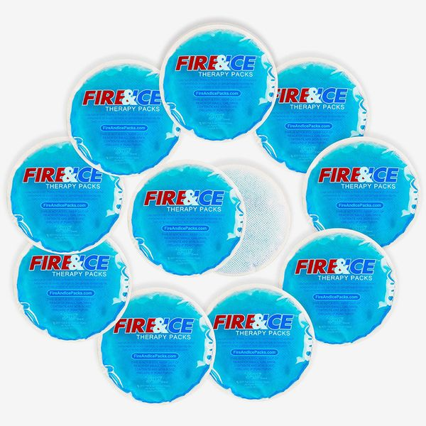 Small Round Hot Cold Packs With Cloth Backing, 10 Pack