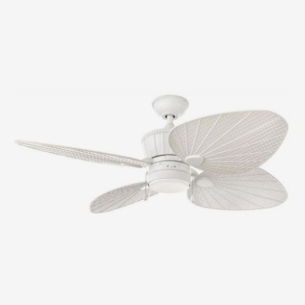 Home Decorators Pompeo 52 in. Integrated LED Indoor/Outdoor White Ceiling Fan with Light Kit
