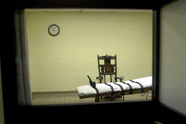 An Ohio death chamber.