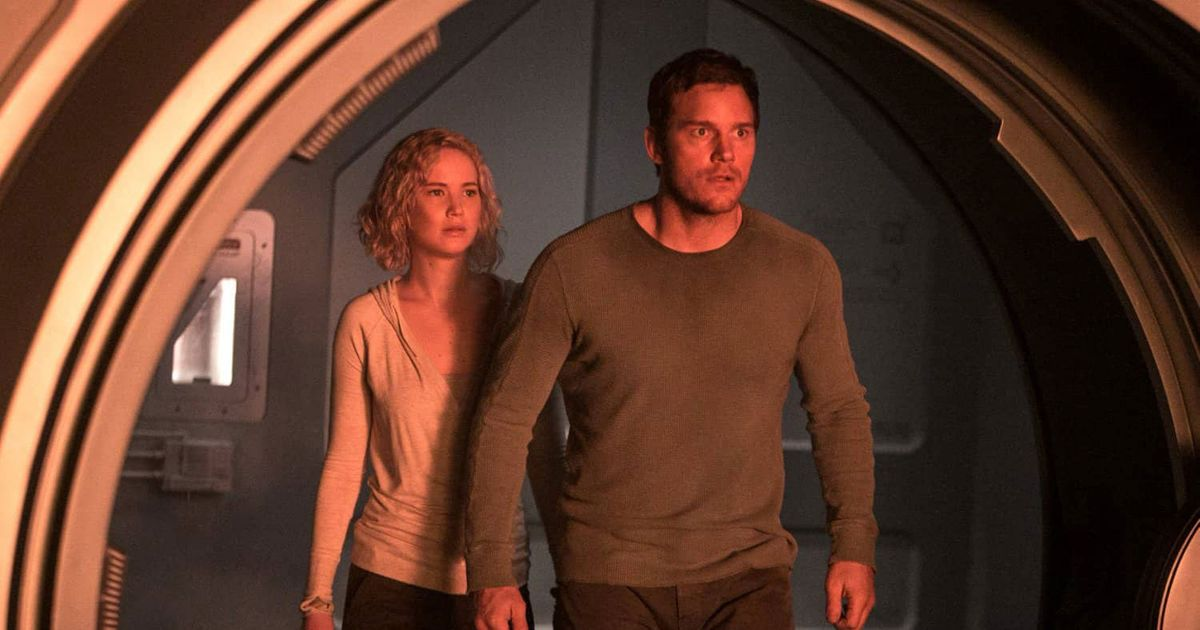 passengers is an intriguing space romance that s sunk by its ending