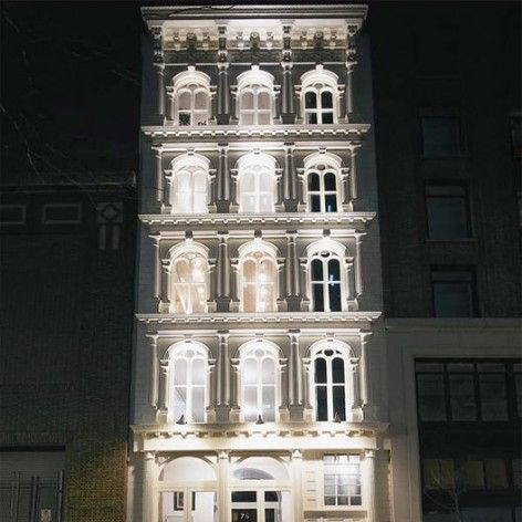 The historic cast-iron building that will house Silver Lining.