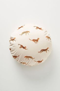Anthropologie Leopard Velvet Pillow