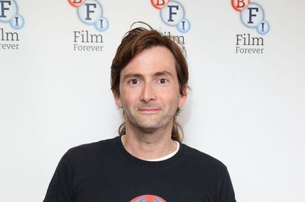 "LONDON, ENGLAND - SEPTEMBER 29:  David Tennant poses as the BFI celebrates 50 years of Doctor Who with special screenings of ""Doctor Who: The Stolen Earth"" and ""Doctor Who: Journey's End"" at BFI Southbank on September 29, 2013 in London, England.  (Photo by Mike Marsland/WireImage)"