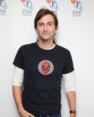 LONDON, ENGLAND - SEPTEMBER 29: David Tennant poses as the BFI celebrates 50 years of Doctor Who with special screenings of