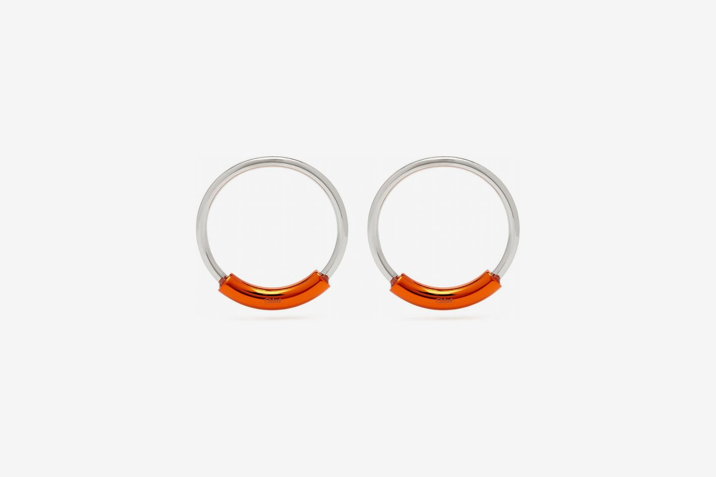 Chloé Contrast-Bar Hoop Earrings