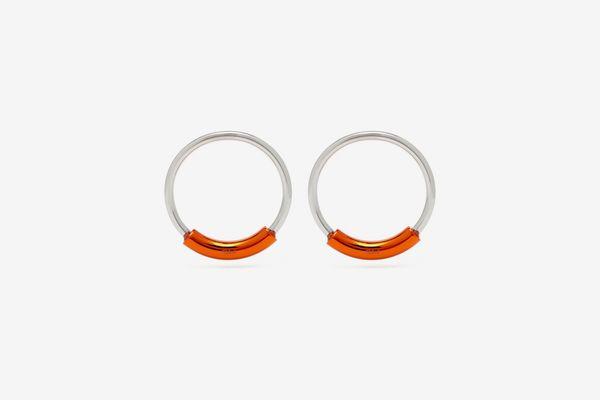 Chloé Contrast-Bar Hoop Earrings