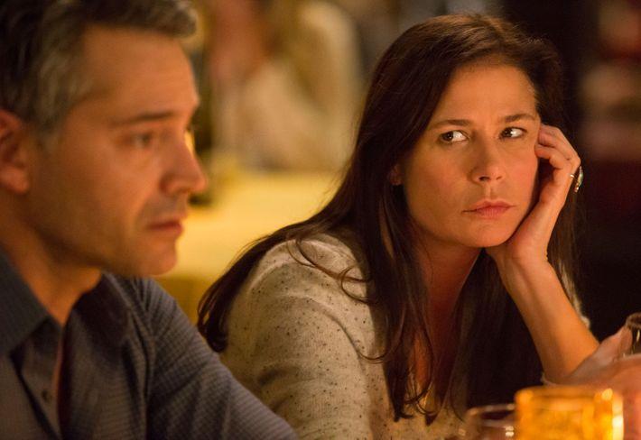 Helen with boyfriend Vic (Omar Metwally) in season four.