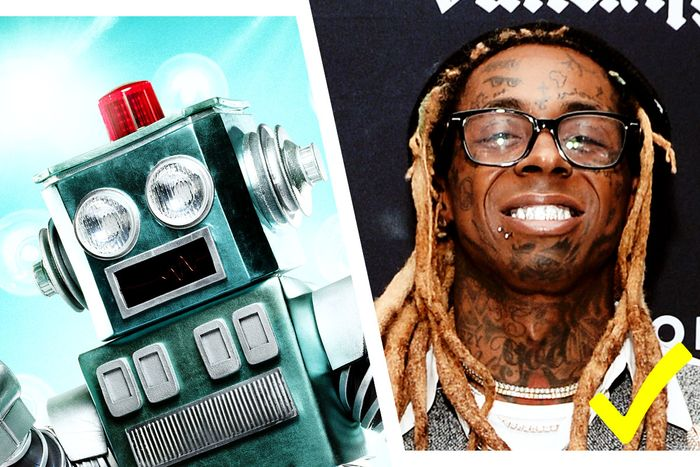 Yep, the Robot is Lil Wayne.