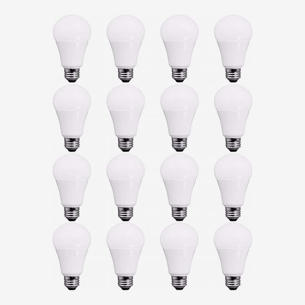 TCP A19 LED Bulbs, Daylight (16-Pack)