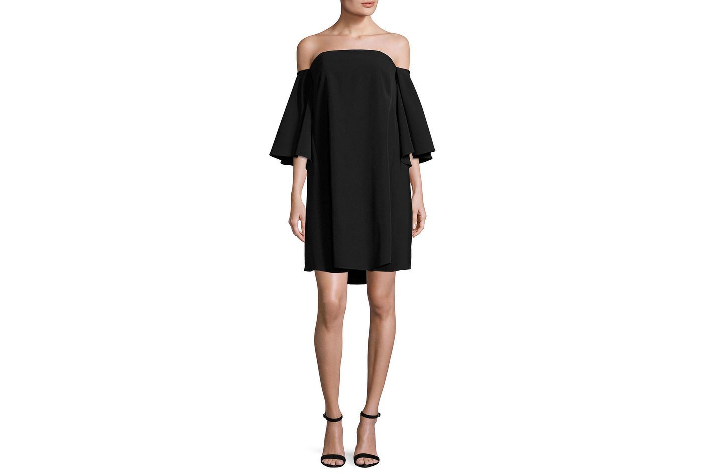 Milly Milla Off-the-Shoulder Italian Cady Minidress