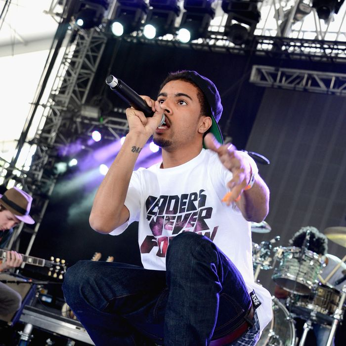 Singer Vic Mensa of Kids These Days performs onstage during during day 2 of the 2013 Coachella Valley Music & Arts Festival at the Empire Polo Club on April 13, 2013 in Indio, California.