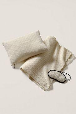 Ralph Lauren Home Cable-Knit Cashmere Travel Set
