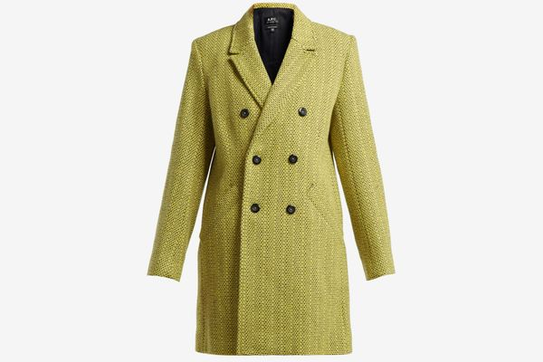 APC Joan Double-Breasted Wool-Blend Coat