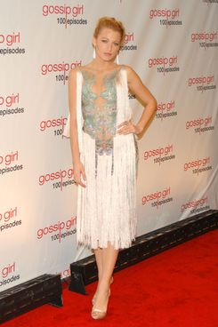 Blake Lively of GOSSIP GIRL Celebrates 100 Episodes at Cipriani Wall St, NYC on November 17, 2011