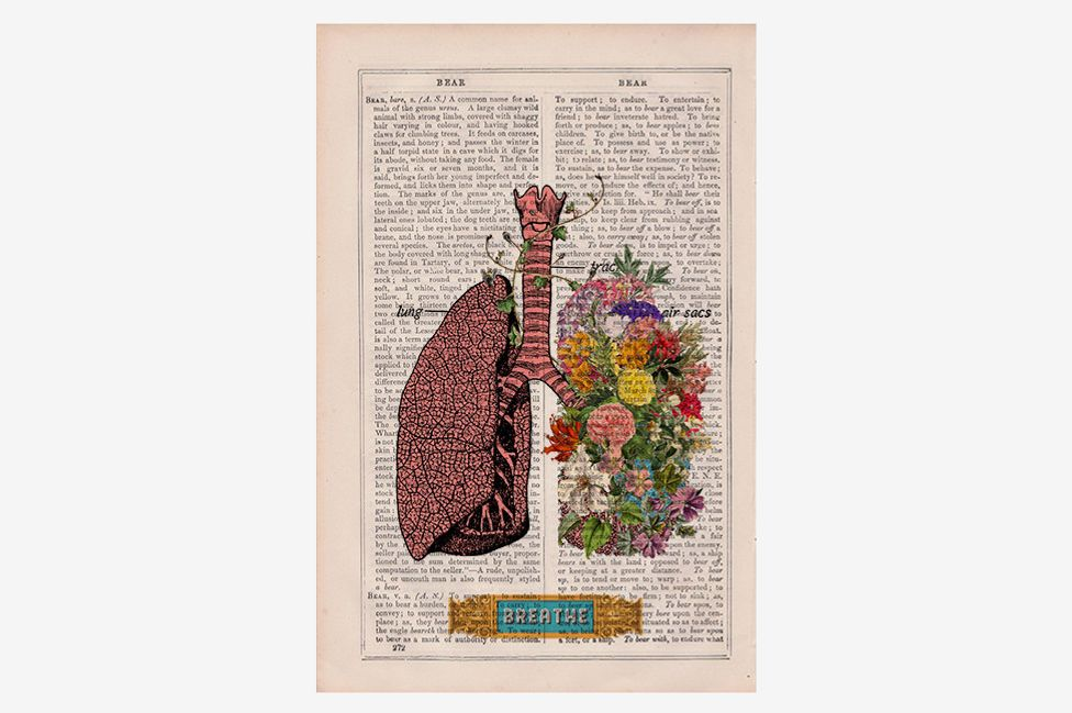 Prrint Lungs Breath Print Wall Art