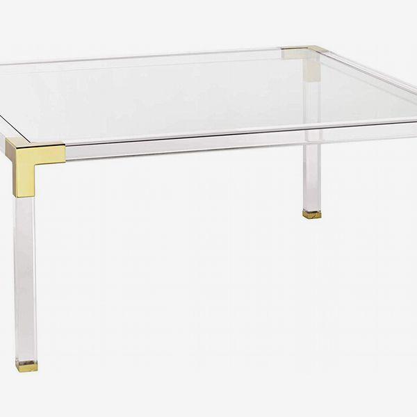 55 Downing Street Hanna Acrylic Modern Coffee Table