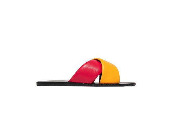 RAG & BONE Keaton color-block leather slides