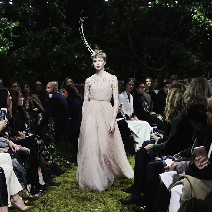 Maria Grazia Chiuri Made Her Dior Couture Debut Amid An Enchanted Forest Set