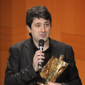 Music composer Bruno Mantovani speaks after winning the