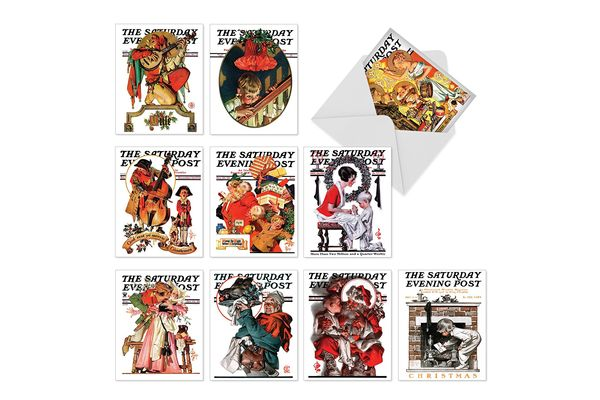 M6060 Christmas Evening Post: 10 Assorted Christmas Note Cards