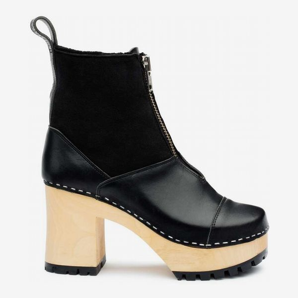 Grunge Boot Shearling - strategist best zip it black leather boot from grunge with high heel