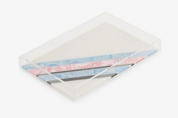Edie Parker Striped Vanity Tray