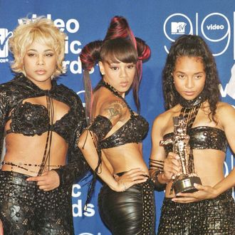 NEW YORK, UNITED STATES: The all-female group TLC won the MTV Video Music Award for Best Group Video for their video