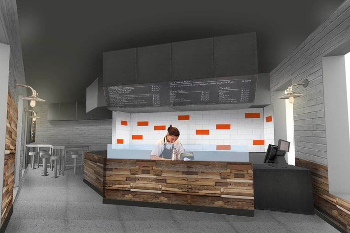 Here's a rendering of the new space.