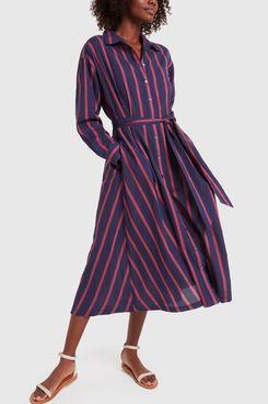 Xirena Navy Stripe Shirtdress